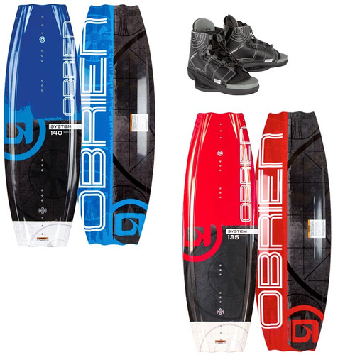 O'Brien Men's System Wakeboard With Clutch Boots 2021