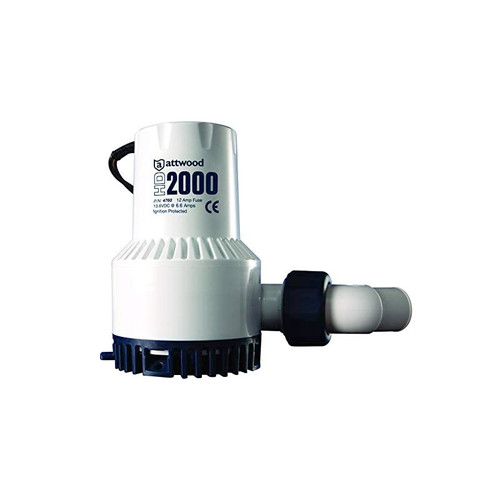 Attwood HD Manual Bilge Pump 2000 GPH