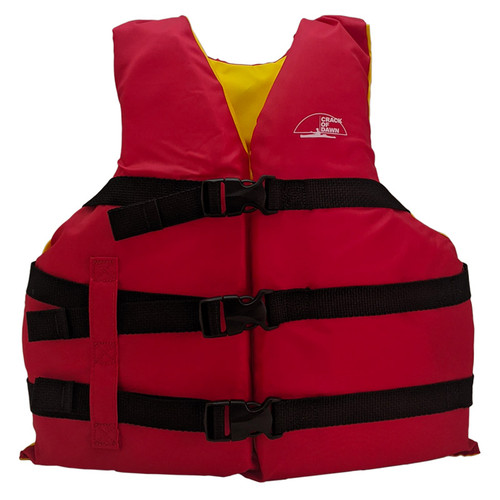 Crack of Dawn Youth Nylon Life Jacket 50-90 Lbs Front