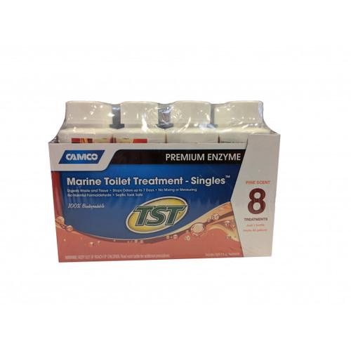Camco TST 4 oz Marine Head Treatment Premium Enzyme Single Bottle 8/pack