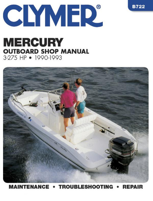 Clymer 1990-1993 Mercury 3-275HP Outboard Repair Manual