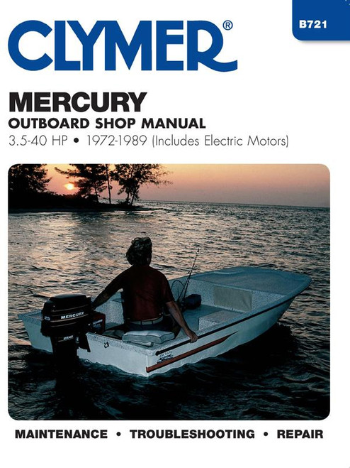 Clymer 1972-1989 Mercury 3.5-40HP Outboard (includes electrics)  Repair Manual