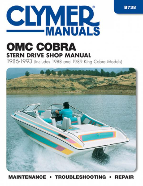 Clymer 1986-1993 OMC Cobra Stern Drives (includes 1988 and 1989 King Cobra models) Repair Manual