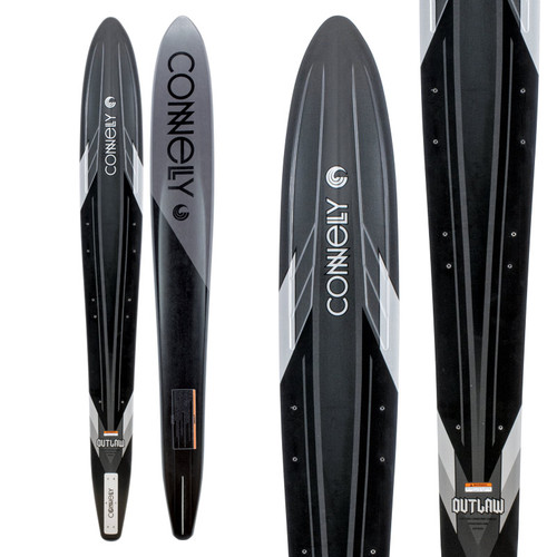 2020 Connelly Outlaw Slalom Waterski With Double Shadow Bindings Top and Bottom view