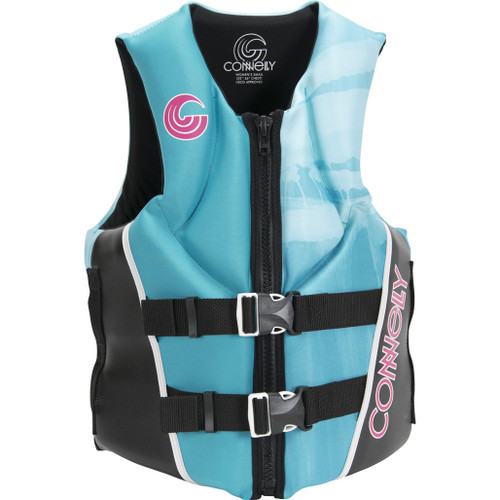 Connelly Aspect Women's Neoprene Life Jacket, Aqua, Large Product image front