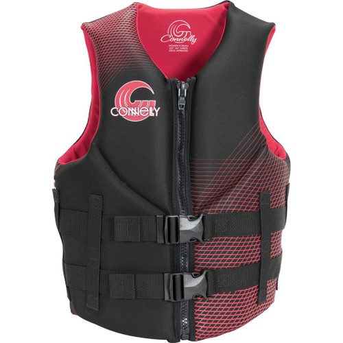 Connelly Promo Women's Neoprene Life Jacket, Pink/Black, Product Image Front