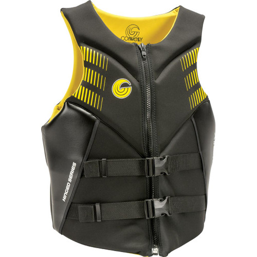 Connelly Aspect Men's Neoprene Life Jacket, Yellow/Black, Product Image Front