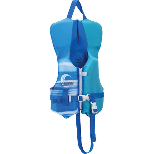 Connelly Classic Boys Infant Neoprene Life Jacket Blue Front