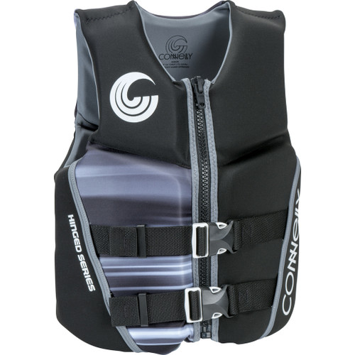 Connelly Classic Boys Junior Neoprene Life Jacket Black/Grey Front