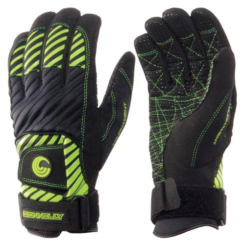Connelly Men's Tournament Waterski Gloves Front and Back