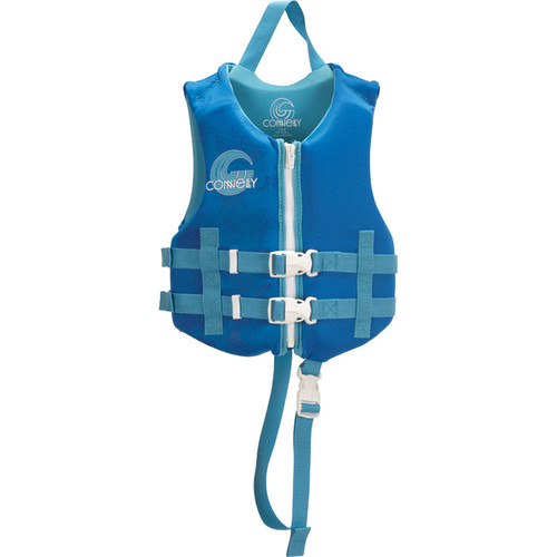 Connelly Promo Boys Child Neoprene Life Jacket, Blue/Aqua Product Image Front