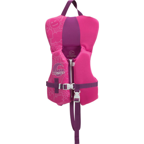 Connelly Promo Girls Infant Neoprene Life Jacket, Pink/Purple Product Image Front