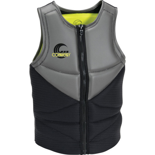 Connelly Team Men's NCGA Neoprene Vest, Gray/Green/Black Front