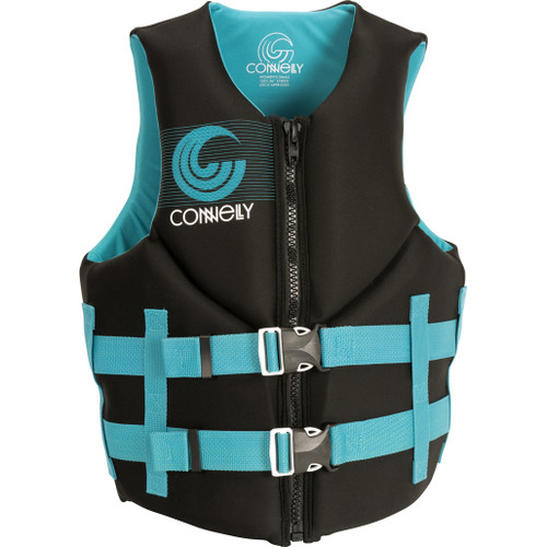 Connelly Promo Women's Neoprene Life Jacket  Aqua/Black Front