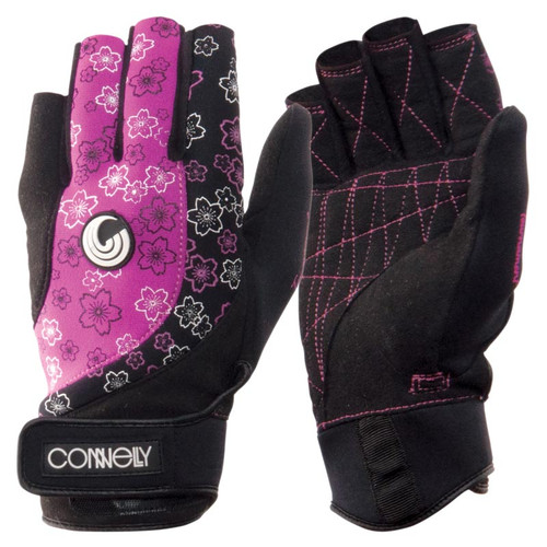 Connelly Women's Tournament Waterski Gloves Front and Back