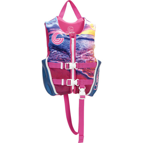 Connelly Classic Sunset Girls Child Neoprene Life Jacket Front