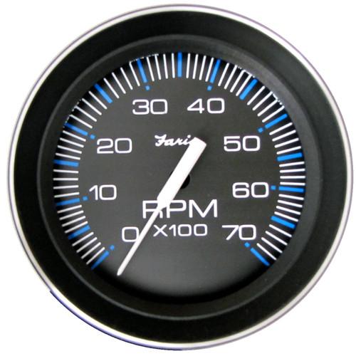 """Faria 7000 RPM Tachometer Gauge O/B Coral 4"""""""