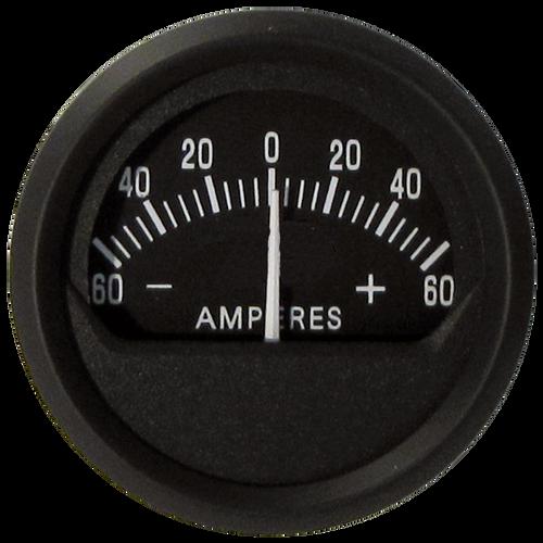 "Faria Ammeter Gauge 60-0-60 Euro 2"""