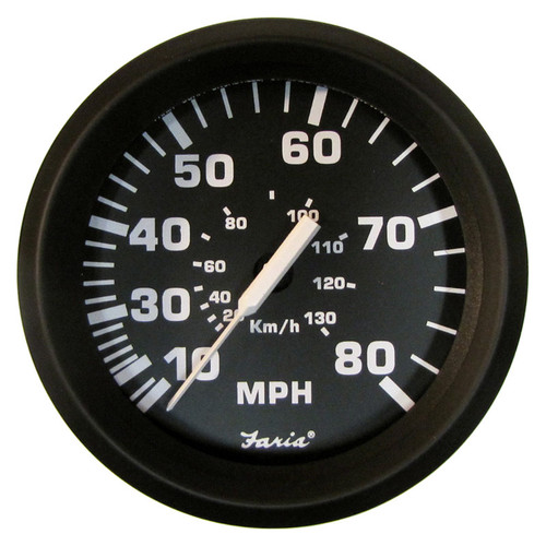 Faria 80 MPH Speedometer Gauge Mechanical Euro 4""