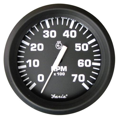 "Faria 7000 RPM Tachometer Gauge O/B Euro 4"""