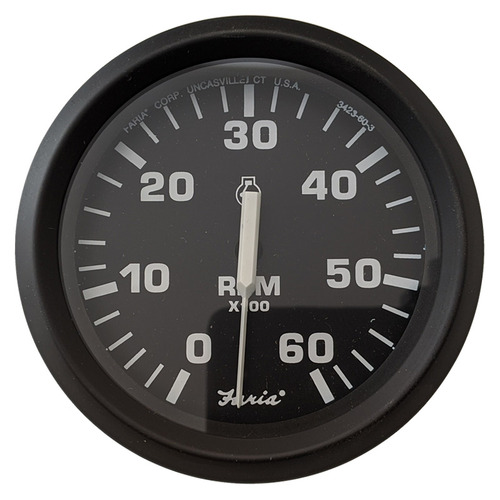 "Faria 6000 RPM Tachometer Gauge Euro 4"""