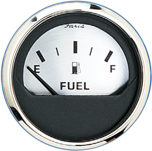 "Faria Fuel Level Gauge Spun Silver 2"""