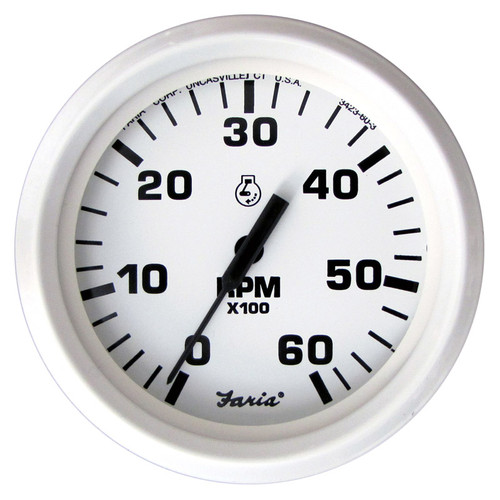 Faria 6000 RPM Tachometer Gas Inboard & I/O Dress White 4""