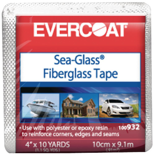 "Evercoat Fiberglass Cloth 6 Oz.  4"" x 10 YD."