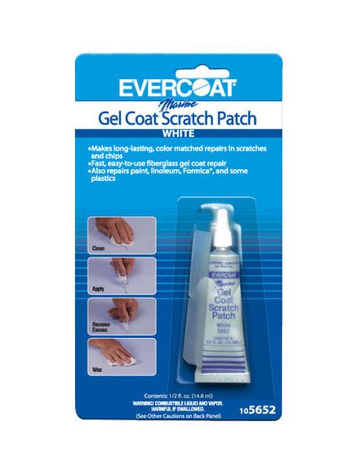 Gel Coat Scratch Patch  White 1/2 Oz.