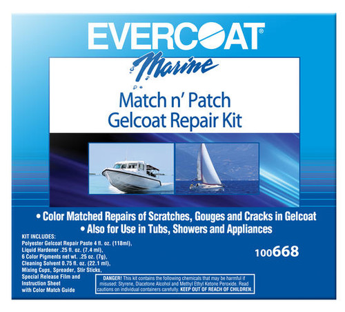 Evercoat Match n' Patch Gel Coat Repair Kit