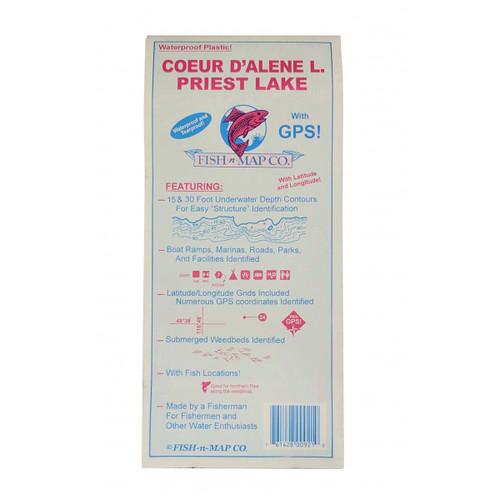 Fish N Map Coeur D'Alene & Priest Lake Recreation Map