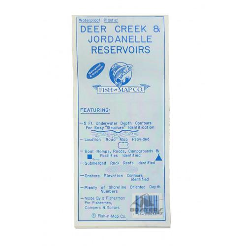 Fish N Map Deer Creek & Jordanelle Reservoirs Map