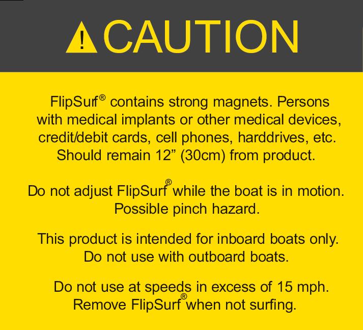 FlipSurf Magnetic Warning