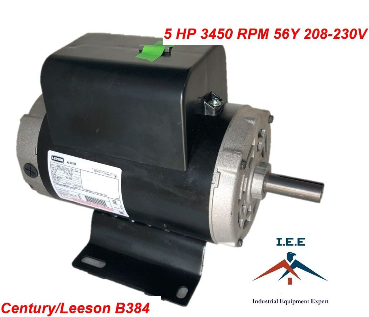 5HP 3450 RPM Air Compressor Electric Motor 208-230 Volts ~NEW~ Century Air Compressor Wiring Diagram For Century on