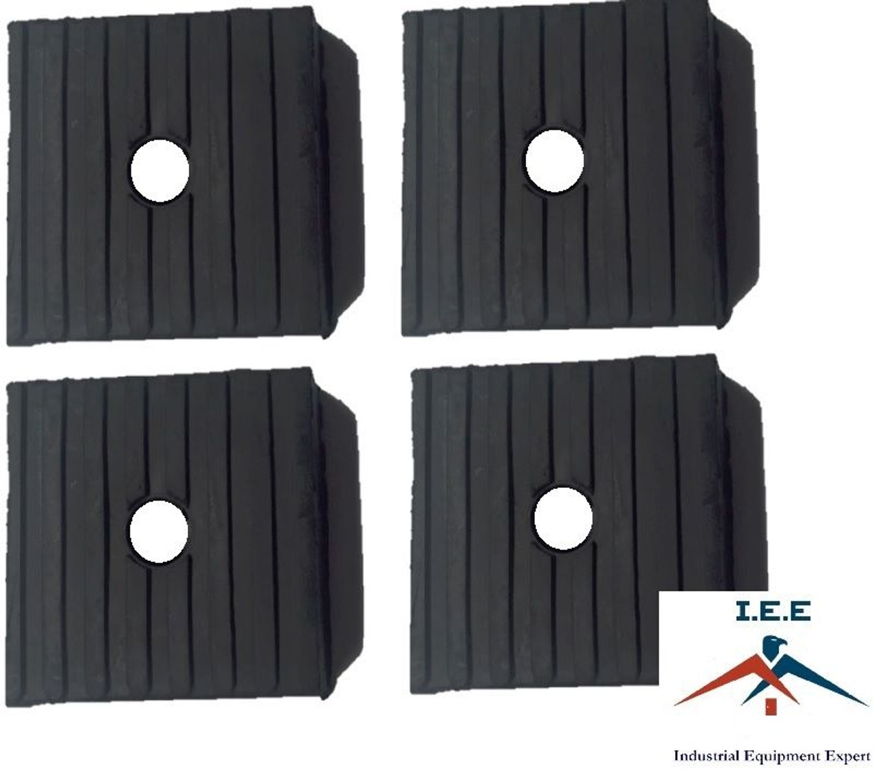 """4 Anti Vibration Pads Air Compressor 4x4x1 Isolation 4/"""" Heavy Duty Rubber USA"""