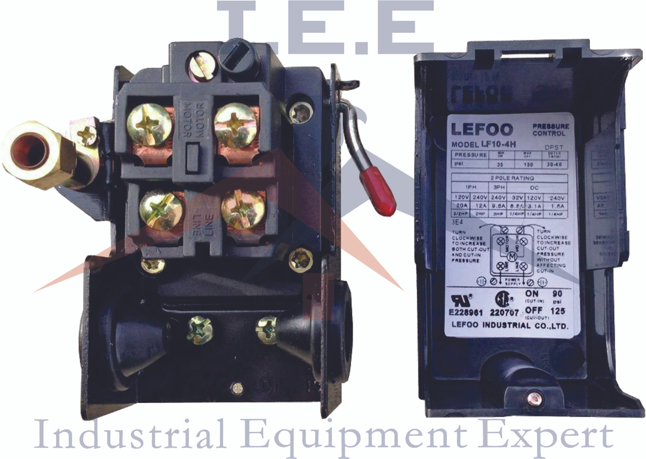 NEW 4 PORT PRESSURE SWITCH 95-125 W/ UNLOADER & ON/OFF LEVER 4WAY MANIFOLD