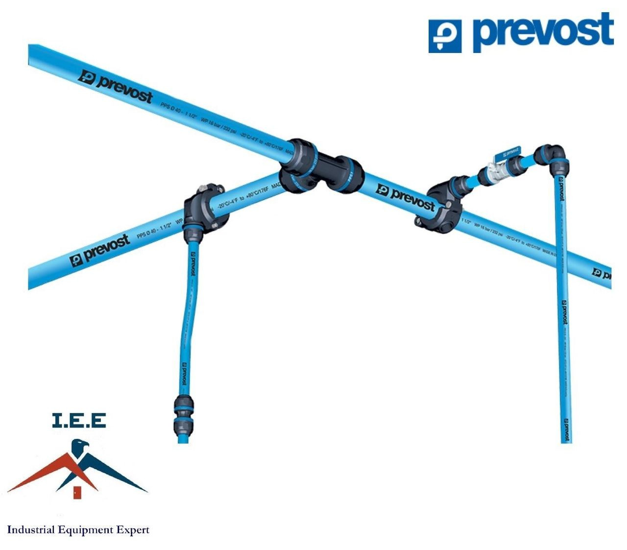 Prevost Aluminium Piping System Compressed Air Line System
