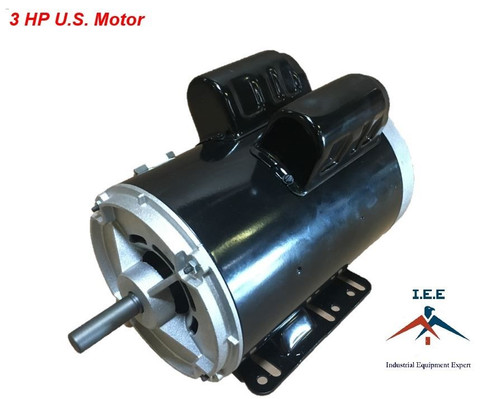 "3 HP 3450 RPM Electric Motor Compressor Duty 56 Frame 1 Phase 5/8"" Shaft 230 V"