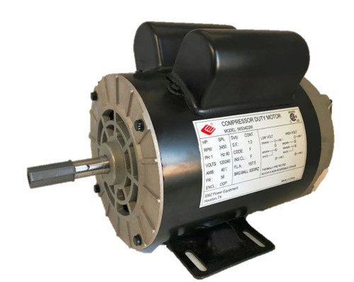 "2 HP SPL Compressor Duty Electric Motor 3450 RPM 56 Frame 5/8"" Shaft 120/240 V"