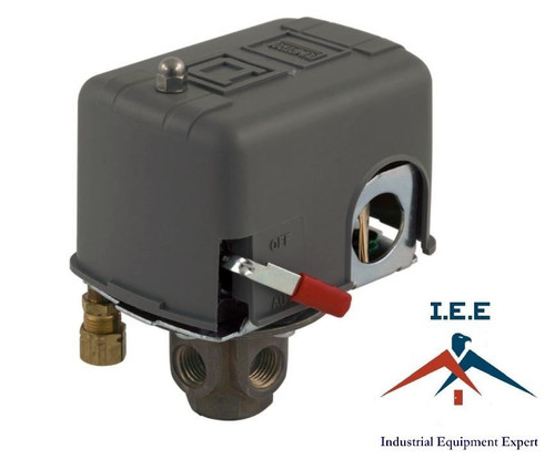9013FHG-54J59M1X Square D Pressure Switch, with Lever and Unloader 135/175 PSI