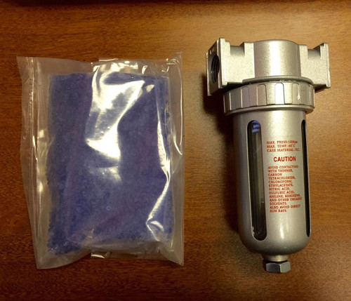 "1/2"" Compressed Air In Line Filter Desiccant Dryer Moisture Water Separator New"