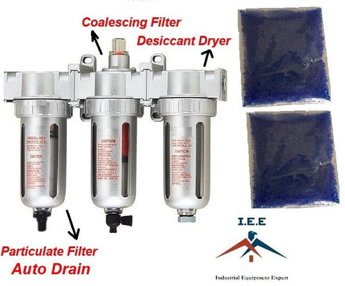 """1/2"""" COMPRESSED AIR INLINE PARTICULATE FILTER / DESICCANT DRYER / COALESCING"""