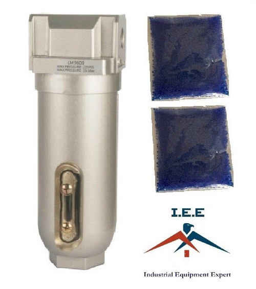 "1"" Compressed Air In Line Filter Desiccant Dryer Moisture Water Separator New"