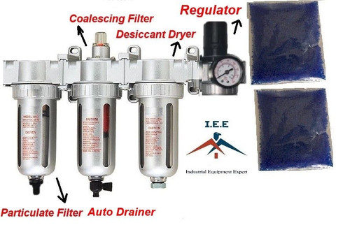 "1/2"" COMPRESSED AIR FILTER AUTO DRAIN / DESICCANT DRYER GOOD FOR PLASMA CUTTER"