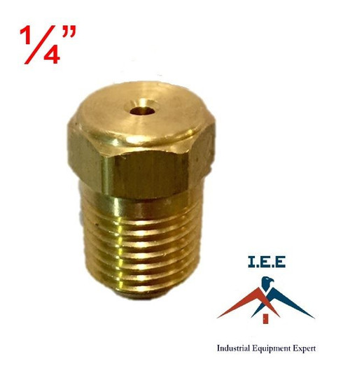 "1/4"" Air Compressor Auxiliary Unloader Assist Needle Valve Solid Brass USA Made"
