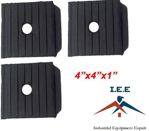 3 Pack Anti Vibration Pads For Air Compressor Or Equipment Solid Rubber 4x4x1