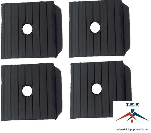 4 Pack Anti Vibration Pads For Air Compressor Or Equipment Solid Rubber 4x4x1
