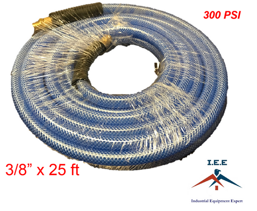 """1/4"""" NPT Fitting 3/8"""" X 25 FT Air Compressor PVC Hose Roofing Framing Carpentry"""
