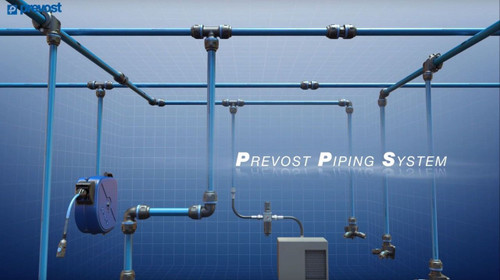 Prevost Aluminium Piping System Compressed Air Line System Shop Piping Kit