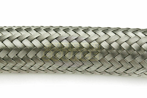 """1/2"""" x 12"""" Stainless Steel Compressed Air Line Metal Flex Hose Tubing Adapter"""